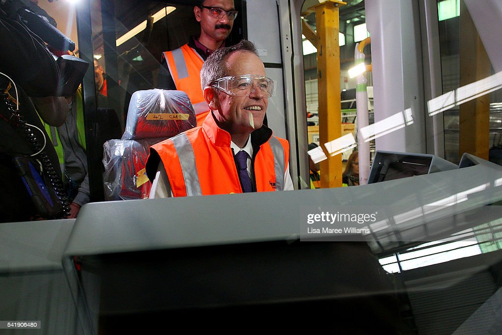 Bill Shorten Tours Bombardier Transportation As He Campaigns In Melbourne