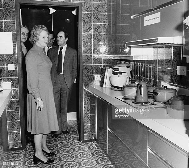 Leader of the Opposition Margaret Thatcher pictured at the Daily Mail Ideal Home Exhibition London March 1976