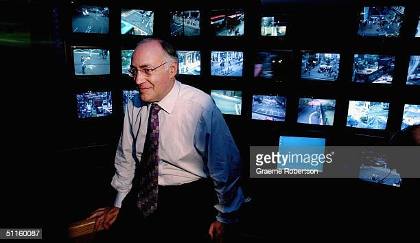 Leader of the Opposition Michael Howard at the CCTV centre in Leicester Square August 11 2004 in London Howard announced that if elected as Prime...