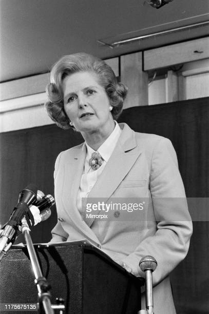 Leader of the Opposition, Mrs Margaret Thatcher speaking at the Coburg Hotel Bayswater. 18th December 1978.