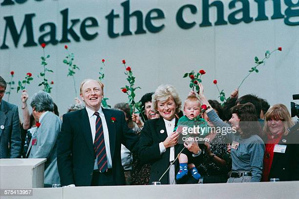 Leader of the Opposition Neil Kinnock with his wife Glenys Kinnock at the Labour Party Conference in Brighton October 1989 The 1989 Labour Party...