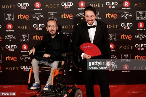 Leader of the Podemos Party Pablo Iglesias attends the 32th edition of the Goya Awards ceremony in Madrid Spain on February 04 2018