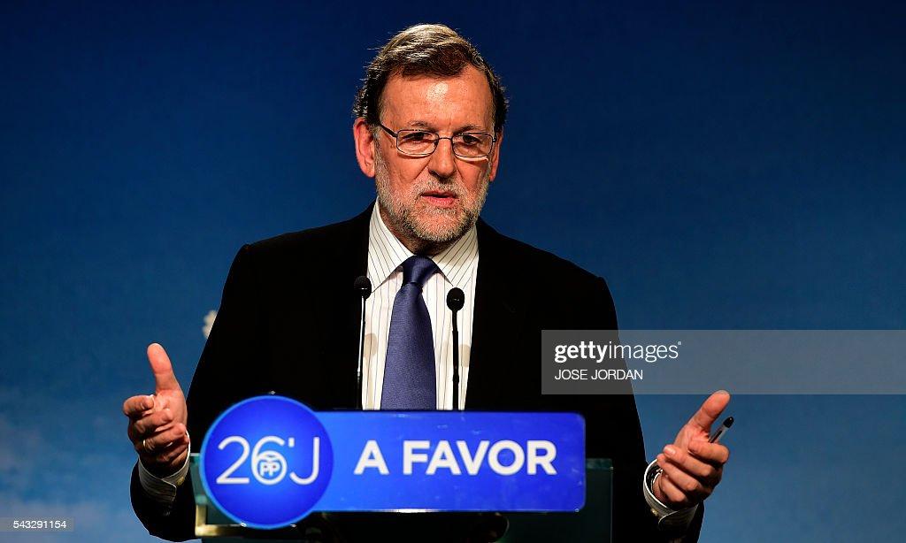 SPAIN-POLITICS-VOTE : News Photo