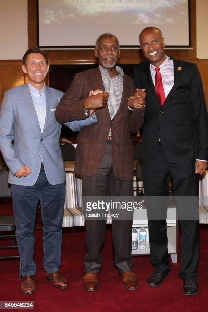 Leader of the Progressive Conservative Party of Ontario Patrick Brown The Honourable Ahmed Hussen and actor Danny Glover attend 'Gwyn Chapman Hosts...