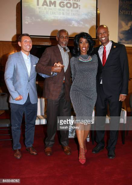 Leader of the Progressive Conservative Party of Ontario Patrick Brown The Honourable Ahmed Hussen Gwen Chapman and actor Danny Glover attend 'Gwyn...