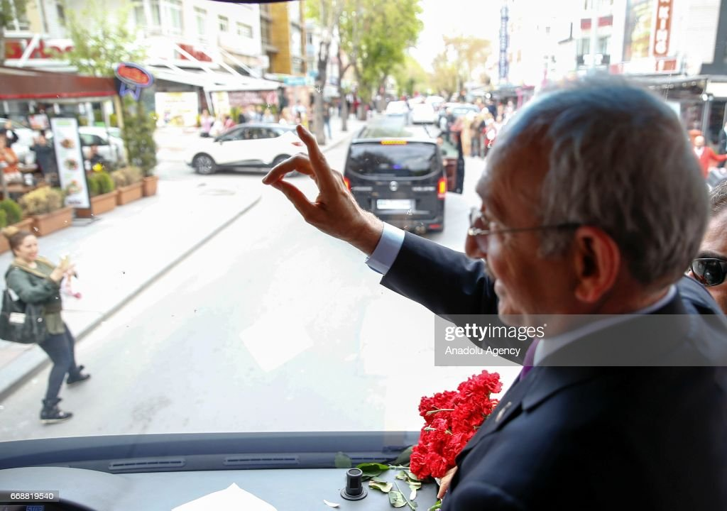 Leader of the Republican People's Party, Kemal Kilicdaroglu... : News Photo
