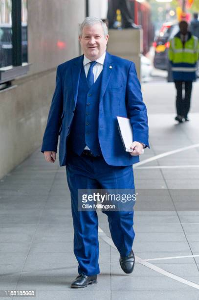 Leader of the Scottish National Party in the House of Commons Ian Blackford arrives ahead of appearing on 'The Andrew Marr Show'at BBC Broadcasting...