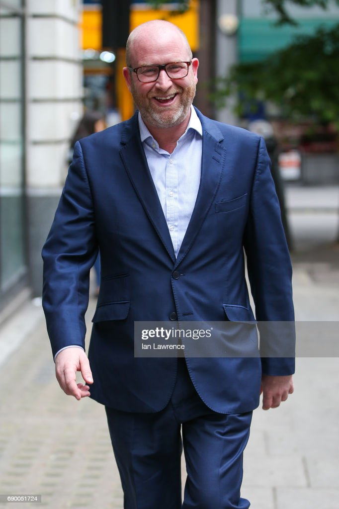 Leader of UKIP Paul Nuttall seen at BBC Radio 2 Studios on May 30, 2017 in London, England.