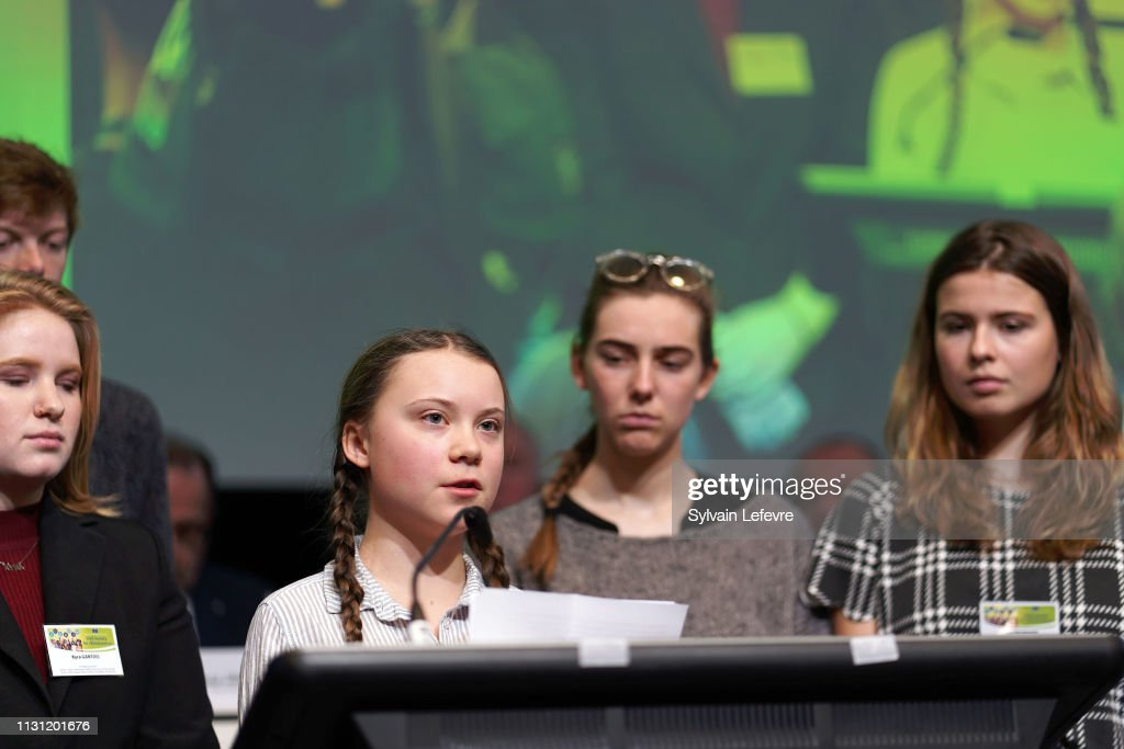 "BEL: Leader of ""Youth for Climat"" Greta Thunberg adresses the European Commission"