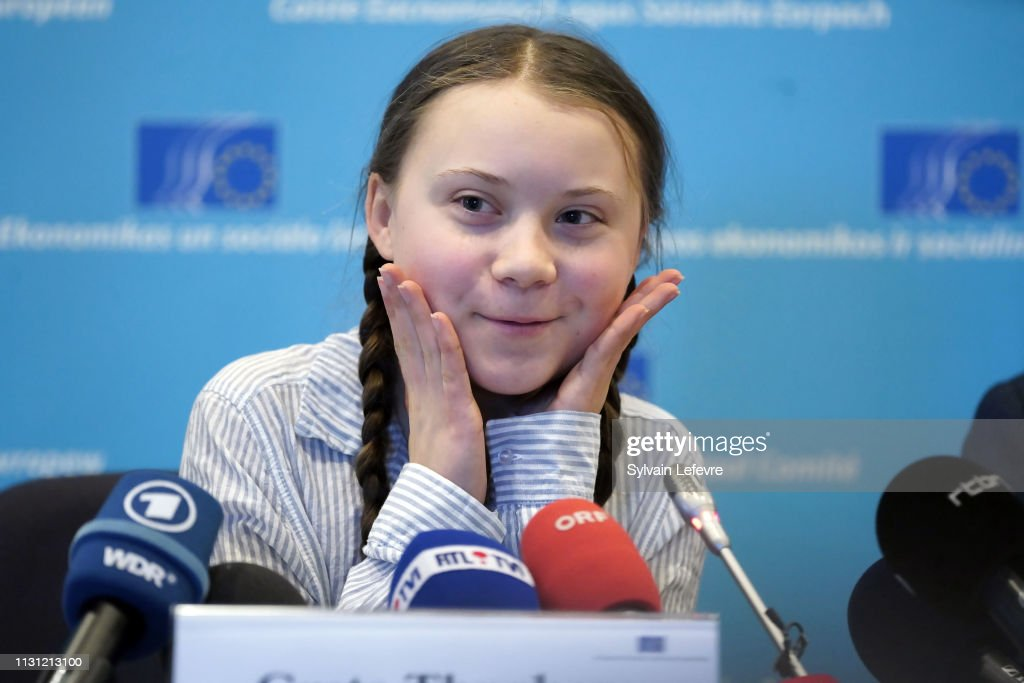 "BEL: Leader of ""Youth for Climat"" Greta Thunberg Gives Press Conference About Climate Change"
