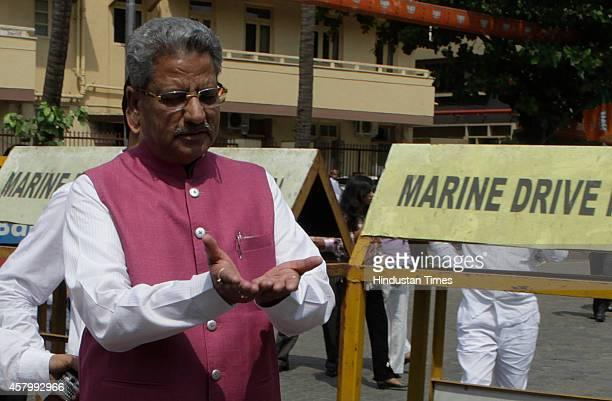 BJP leader Om Mathur outside BJP office before the legislative meeting on October 28 2014 in Mumbai India Devendra Fadnavis is elected as the leader...