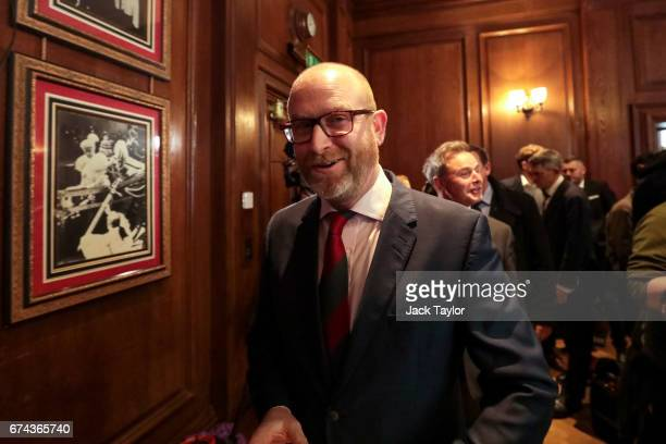 Leader Paul Nuttall arrives to make a speech as the party launch their general election campaign at the Marriott County Hall Hotel in Westminster on...
