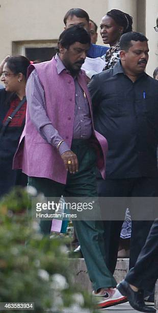 RPI leader Ramdas Athawale visits at Lilavati Hospital Bandra as Former Maharashtra home minister and NCP leader RR Patil expired after a prolonged...