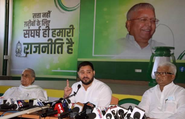 IND: Press Conference Of RJD Leader Tejashwi Yadav