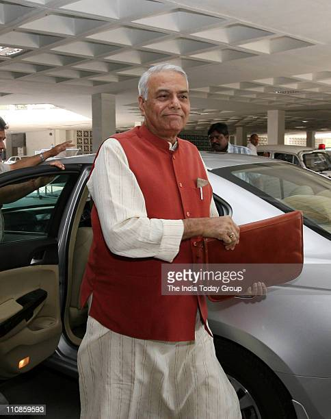 BJP leader Yashwant Sinha at JPC meeting in New Delhi on Thursday March 24 2011