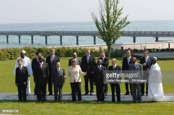 G8 leaders and the extended 'Outreach' leaders on the second day of the G8 Summit in Heiligendamm Germany