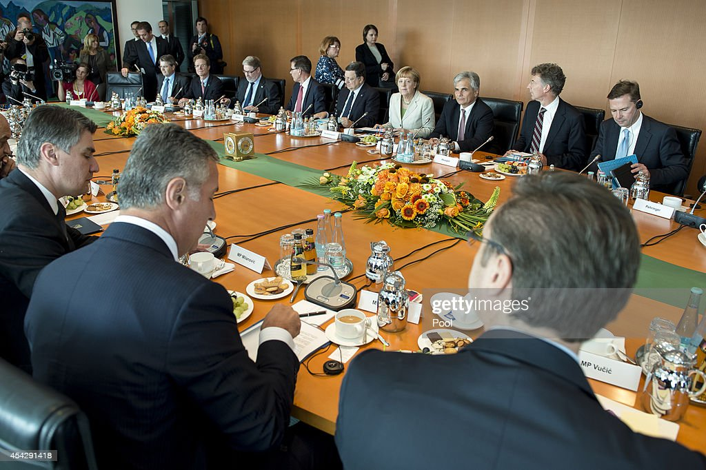 Government Holds Balkan Conference : News Photo
