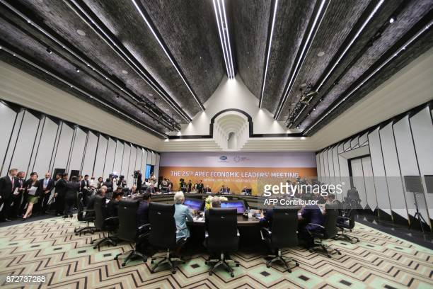 Leaders attend the APEC Economic Leaders' Meeting part of the AsiaPacific Economic Cooperation leaders' summit in the central Vietnamese city of...
