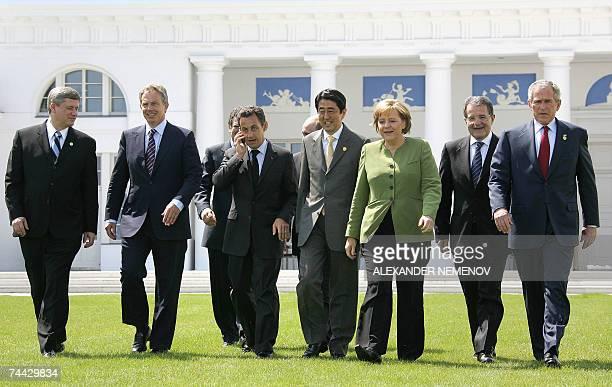 G8 leaders Canadian Prime Minister Stephen Harper British Prime Minister Tony Blair French President Nicolas Sarkozy European Commission President...