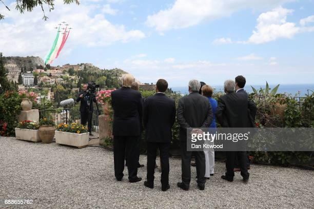 G7 leaders European Council President Donald Tusk British Prime Minister Theresa May US President Donald Trump German Chancellor Angela Merkel...