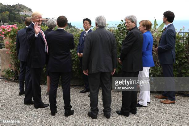 G7 leaders European Council President Donald Tusk British Prime Minister Theresa May US President Donald Trump German Chancellor Angela Merkel...