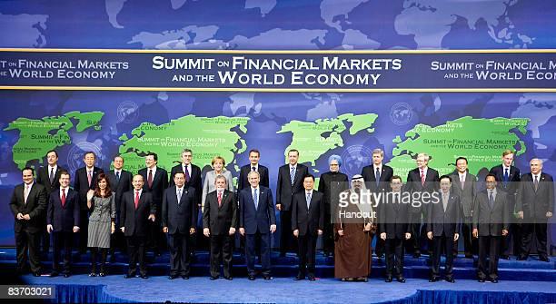 G20 leaders Financial Stability Forum Chairman Mario Draghi UN Secretary General Ban Kimoon European Commission President Jose Manuel Barroso Italian...