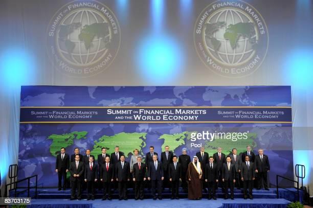 Leaders Financial Stability Forum Chairman Mario Draghi, UN Secretary General Ban Ki-moon, European Commission President Jose Manuel Barroso, Italian...