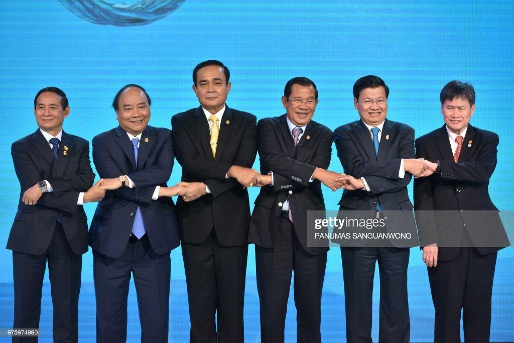 THAILAND-CAMBODIA-LAOS-MYANMAR-VIETNAM-DIPLOMACY : News Photo