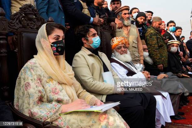 Leaders of Pakistan Democratic Movement , an opposition alliance of 11 parties, Maryam Nawaz , daughter of Pakistan's former prime minister Nawaz...
