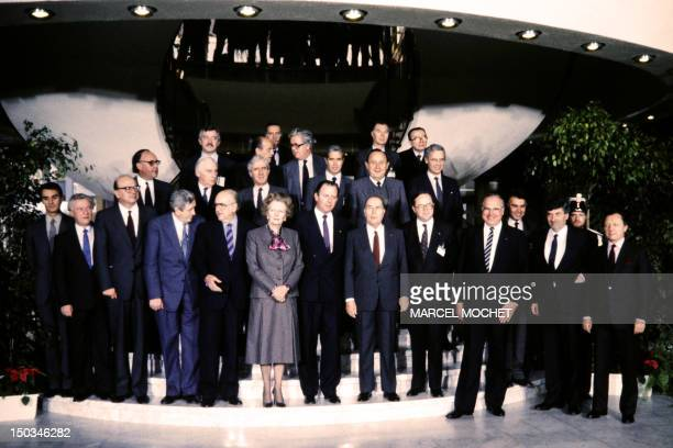 Leaders of the European Community pose on December 02 1985 in Luxembourg before reaching the basis of a political agreement on Single European Act at...
