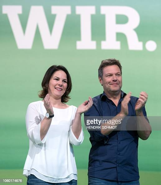 Leaders of the German Green party, Robert Habeck and ...
