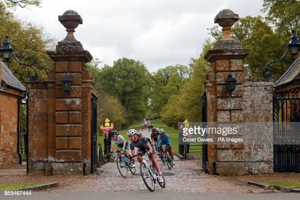 Leaders of the Peloton leave Althorp House estate during Stage One of the 2014 Women's Tour Of Britain in Northamptonshire
