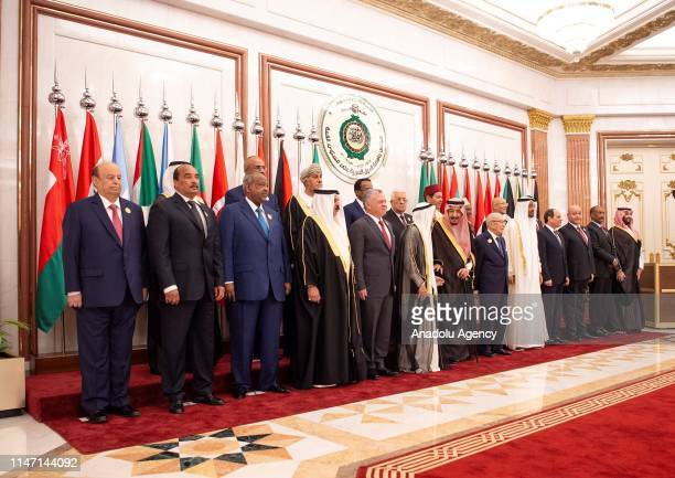 Leaders pose for a family photo during emergency Arab League Summit at Al Safa Palace in Mecca, Saudi Arabia on May 31, 2019.