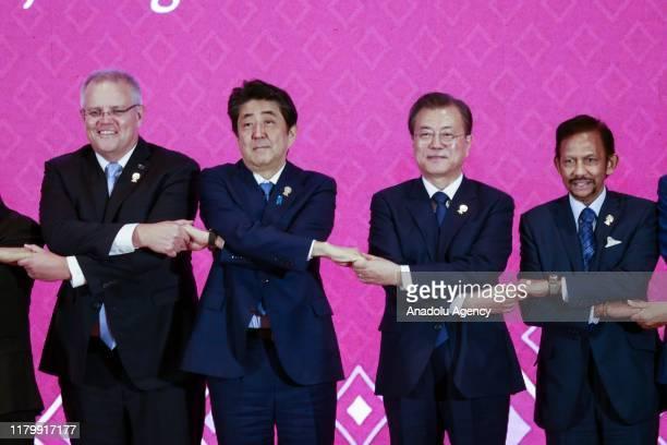 ASEAN leaders Prime Minister of Australia Scott Morrison Japanese Prime Minister Abe Shinzo President of the Republic of Korea Moon Jaein and...