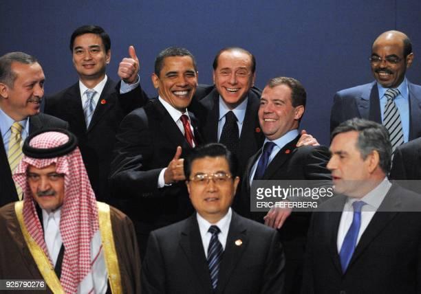 Leaders Saudi Foreign Minister Saud al-Faisal, Chinese President Hu Jintao, Britain's Prime Minister Gordon Brown, Turkish Prime Minister Recep...