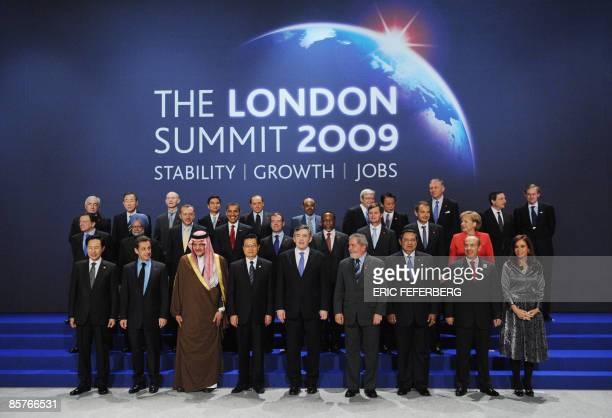 G20 leaders South Korean President Lee MyungBak French President Nicolas Sarkozy Saudi Foreign Minister Prince Saud alFaisal Chinese President Hu...