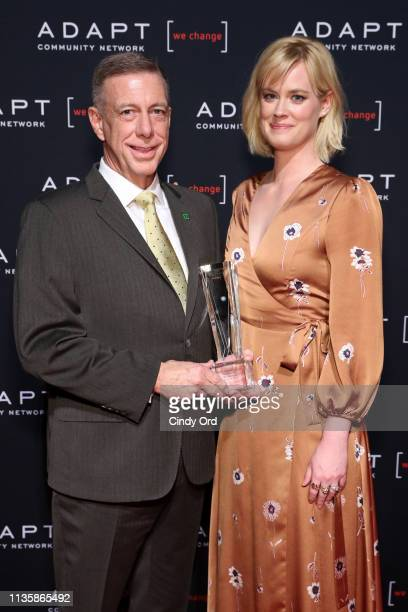 Leadership Award honoree TD Bank New York Market President Peter M Meyer and Abigail Hawk pose during the 2019 2nd Annual ADAPT Leadership Awards at...