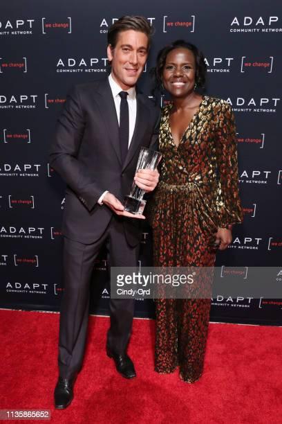 Leadership Award honoree David Muir and Deborah Roberts pose during the 2019 2nd Annual ADAPT Leadership Awards at Cipriani 42nd Street on March 14...