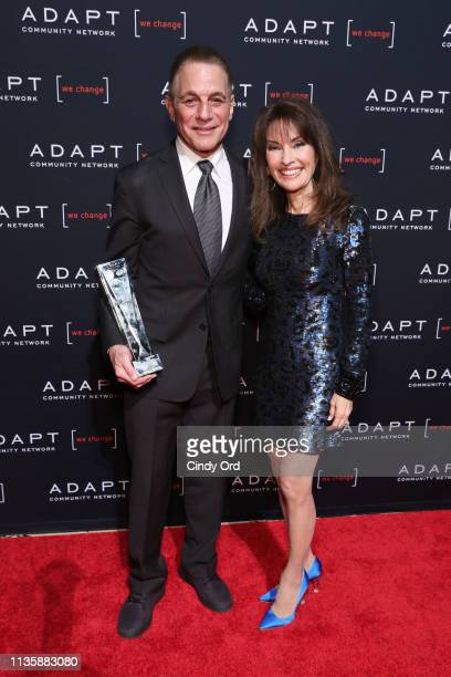 Leadership Award honoree Tony Danza and Susan Lucci pose during the 2019 2nd Annual ADAPT Leadership Awards at Cipriani 42nd Street on March 14 2019...