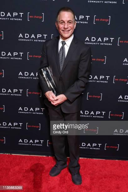 Leadership Award honoree Tony Danza poses with his award during the 2019 2nd Annual ADAPT Leadership Awards at Cipriani 42nd Street on March 14 2019...