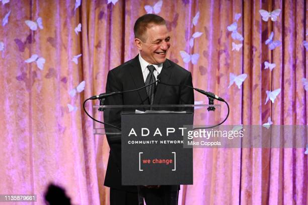 Leadership Award honoreeTony Danza speaks onstage at the 2019 2nd Annual ADAPT Leadership Awards at Cipriani 42nd Street on March 14 2019 in New York...