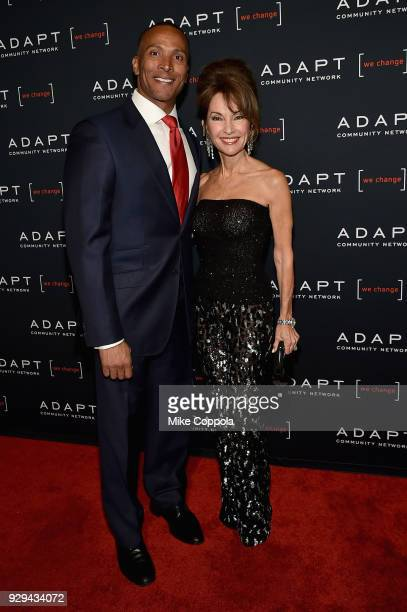 Leadership Awards Cochair Mike Woods and actor Susan Lucci attend the Adapt Leadership Awards Gala 2018 at Cipriani 42nd Street on March 8 2018 in...