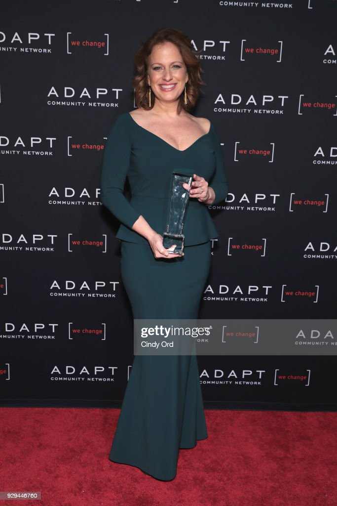 Leadership Awards Honoree Amy Wright accepts award at the Adapt Leadership Awards Gala 2018 at Cipriani 42nd Street on March 8, 2018 in New York City.