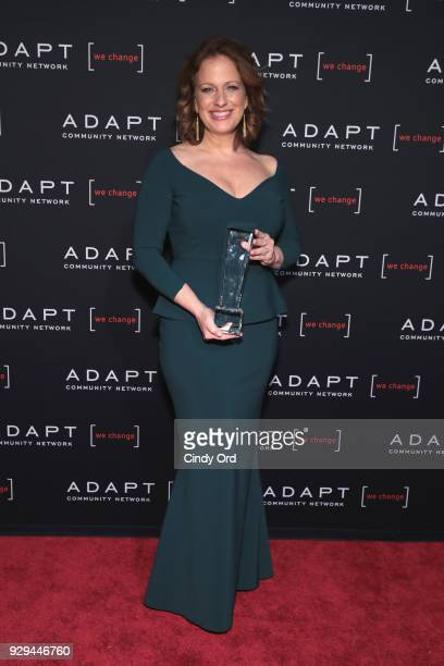 Leadership Awards Honoree Amy Wright accepts award at the Adapt Leadership Awards Gala 2018 at Cipriani 42nd Street on March 8 2018 in New York City