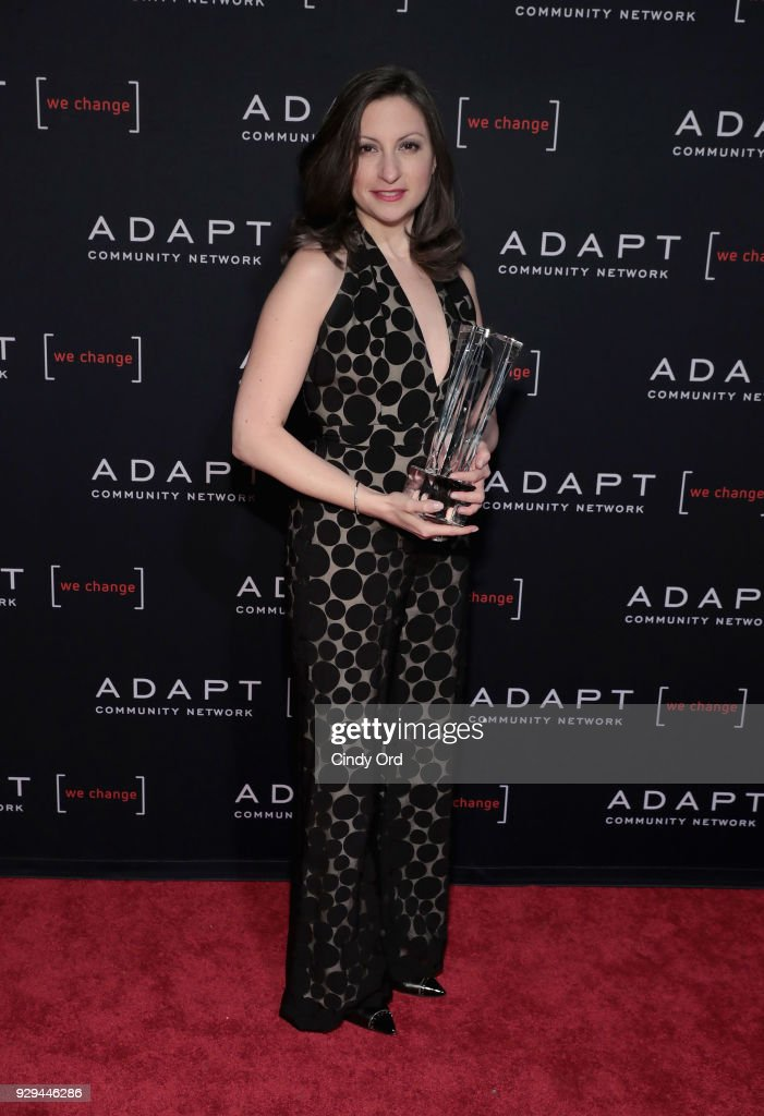 Leadership Awards Honoree Marissa Shorenstein accepts award at the Adapt Leadership Awards Gala 2018 at Cipriani 42nd Street on March 8, 2018 in New York City.