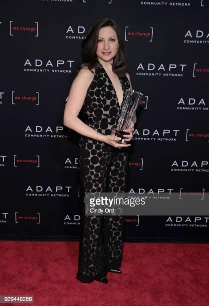 Leadership Awards Honoree Marissa Shorenstein accepts award at the Adapt Leadership Awards Gala 2018 at Cipriani 42nd Street on March 8 2018 in New...