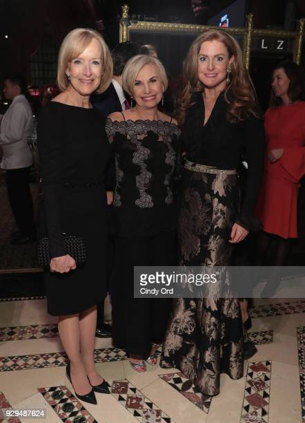 Leadership Awards host Judy Woodruff and Sheila Lennon attend the Adapt Leadership Awards Gala 2018 at Cipriani 42nd Street on March 8 2018 in New...