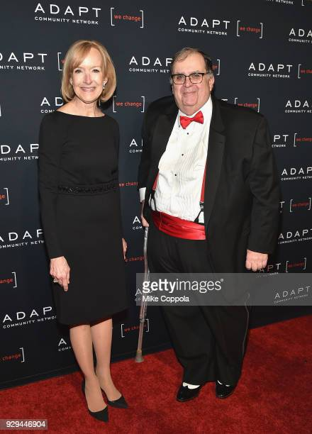 Leadership Awards Judy Woodruff and CEO of ADAPT Community Network Edward R Matthews attend the Adapt Leadership Awards Gala 2018 at Cipriani 42nd...