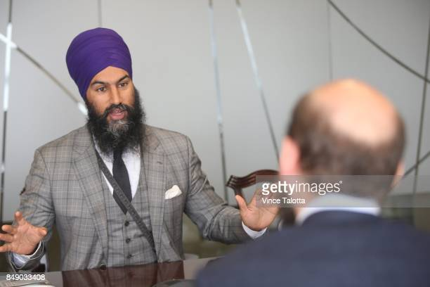 NDP leadership candidate Jagmeet Singh met with the Toronto Star editorial board to discuss his platform and campaign