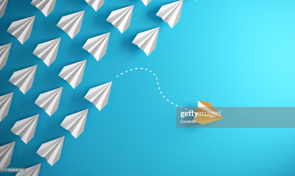 Leadership Concept With Paper Airplanes : Foto de stock